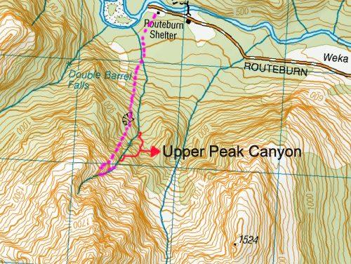 Première ouverture «Upper Peak Canyon»